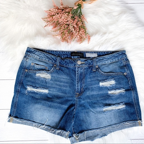 "Aeropostale Pants - Aeropostale ""Tomboy"" distressed jean shorts"